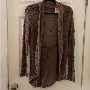 Anthropologie Knitted & Knotted brown Cardigan